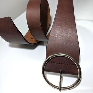 Michael Kors Brown Leather Belt w/ Large Buckle